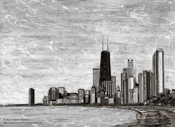 chicago skyline art - photo #22